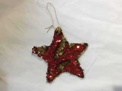 Red and Gold Star Ornament