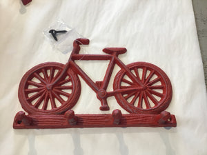 Bicycle Hook Antique Red