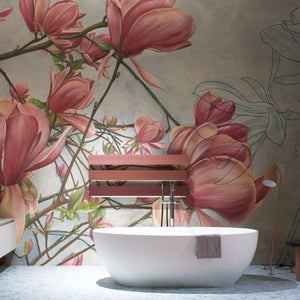 MAGNOLIA IN BLOOM CUSTOM DESIGN WALLPAPER
