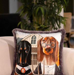 DOGS VELVET PILLOW