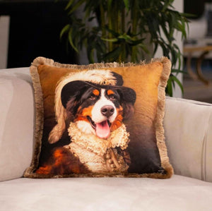 DUKE DOG VELVET PILLOW