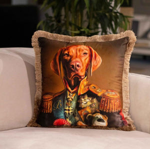 GENERAL DOG VELVET PILLOW