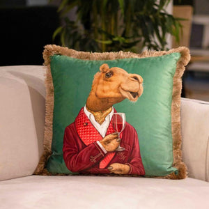 CAMEL VELVET PILLOW