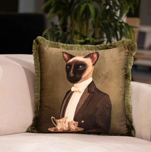 MR CAT VELVET PILLOW