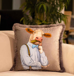 MR COW VELVET PILLOW