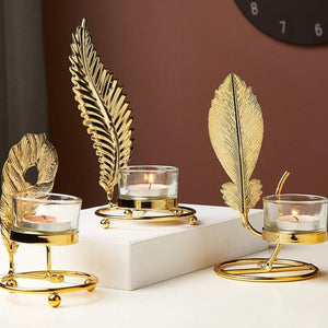 PLANT LEAVES CANDLE HOLDER
