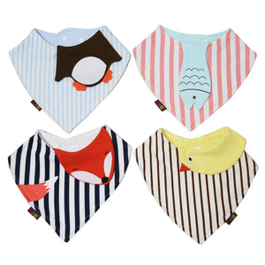 4Pc/LOT COTTON STYLISH  BABY BANDANA BIBS