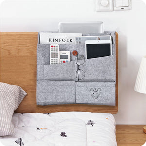 Bedside Felt storage bag bedroom Storage Organizer Magazine Tissue towels finishing bags Convenient hanging pocket