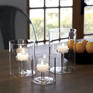 MODERN GLASS CANDLE HOLDER