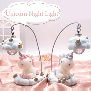 unicorn led night light kids toy