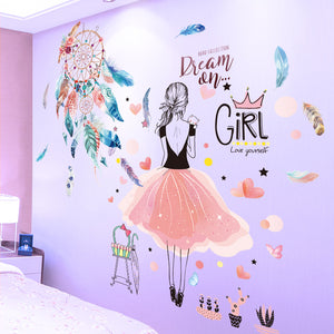 CARTOON GIRL VINYL WALL STICKERS