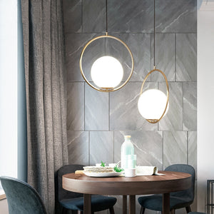 SINGLE HEAD GLASS BEDSIDE PENDANT LAMP
