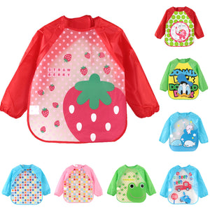 CARTOON ANIMALS WATERPROOF LONG SLEEVE BABY BIBS