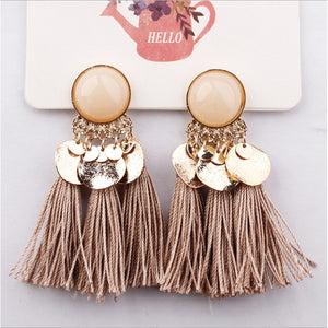BOHEMIA ETHNIC TASSEL FRINGE  EARRINGS SUMMER 2019 HIGH TRENDS