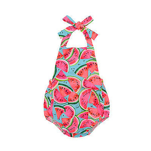 BABY GIRLS WATERMELON ROMPERS