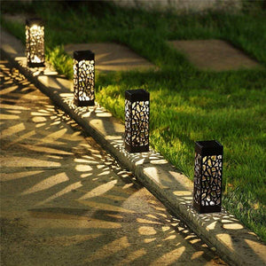 OUTDOOR SOLAR POWERED LED  GARDEN LIGHTS