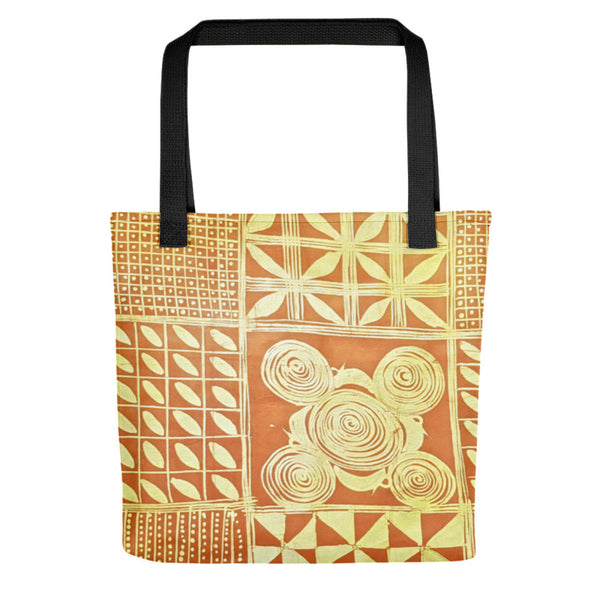 Yellow Adire Pattern Tote bag
