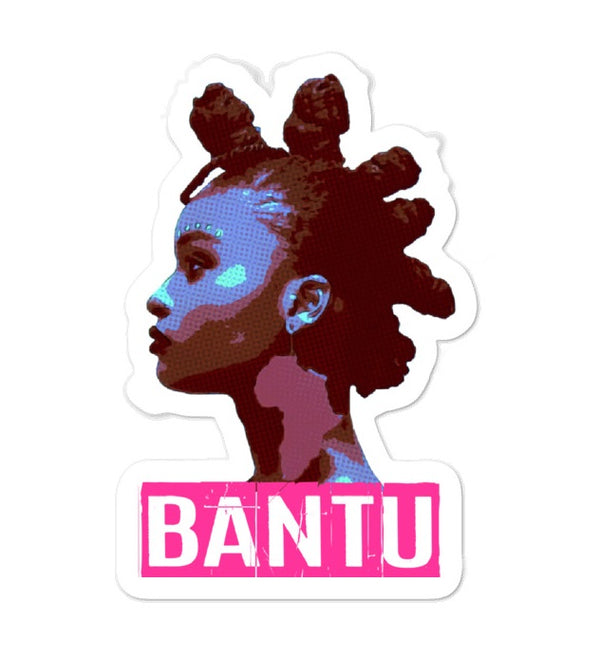 Bantu Knot - Bubble-free stickers