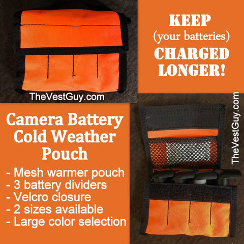 Cold Weather Camera Battery Pouch