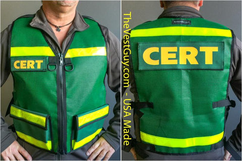 CERT 001 Reflective vest by The Vest Guy