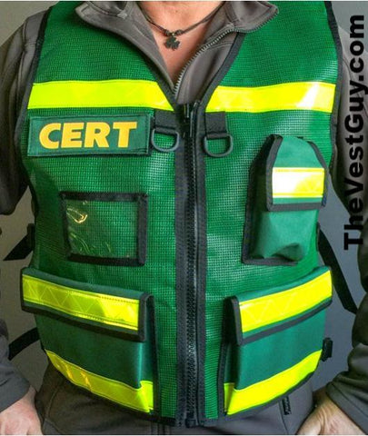 CERT Reflective Vest with radio pocket and ID sleeve by The Vest Guy