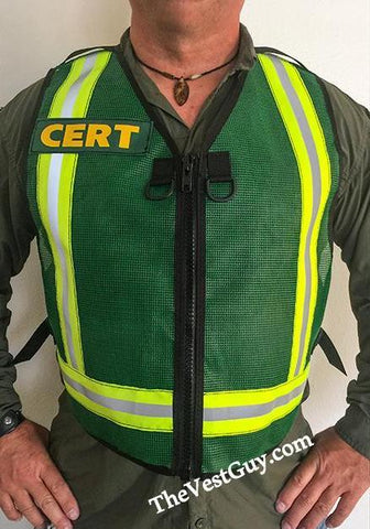 Basic CERT reflective vest by The Vest Guy