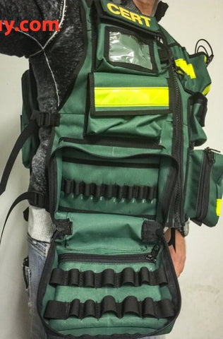 CERT medic vest, custom reflective vests by The Vest Guy