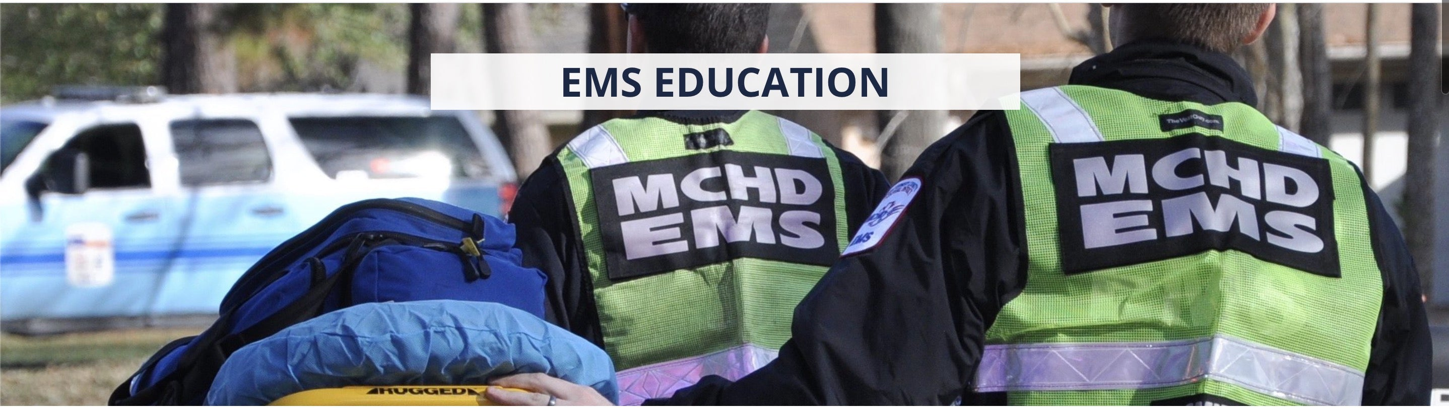 MCHD - EMS Safety Reflective safety vest Montgomery County Health Dept. ANSI Vest