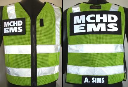 MCHD EMS ANSI II reflective vest by The Vest Guy