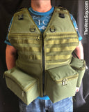 Photography Vest with MOLLE webbing, lens pockets by The Vest Guy