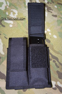 5.7 Double Mag pouch with MOLLE in black