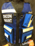 Custom Blue mesh reflective vest with name tags