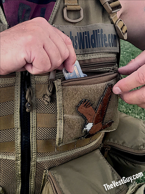 Small flat MOLLE lens cap pouch by The Vest Guy