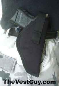 black airsoft belt holster