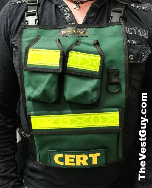 Green Radio Chest Pack with reflective
