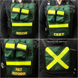 Green CERT radio chestpack by TheVestGuy.com