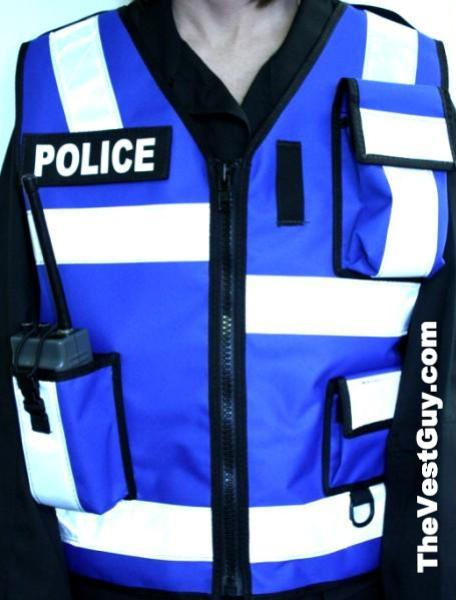 Royal Blue High Reflective Police Vest