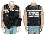CSI Reflective Vest, black mesh vest, photo vest