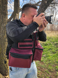 Colorado Photo Vest - Burgundy