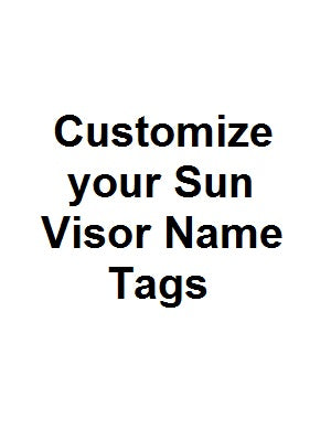 Customized Sun Visor Tags