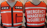 Custom Orange Safety Reflective Vest