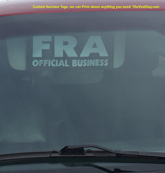 FRA Vehicle Sun Visor Name Tag