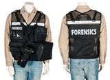 Forensics Reflective Vest, black mesh vest, photo vest