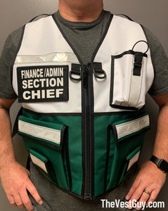 Two Tone Safety Reflective Vest Incident Command, Finance / Admin Section Chief reflective vest by The Vest Guy