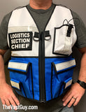 Two Tone Safety Reflective Vest Incident Command, Logistics Section Chief reflective vest by The Vest Guy