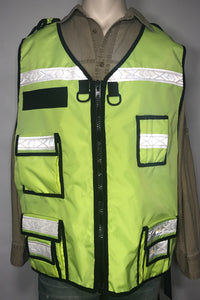 Fluorescent Lime Reflective Vest, Neon Yellow Reflective Vest