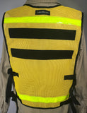 * LAST CHANCE * Yellow Mesh 2 Pocket Vest
