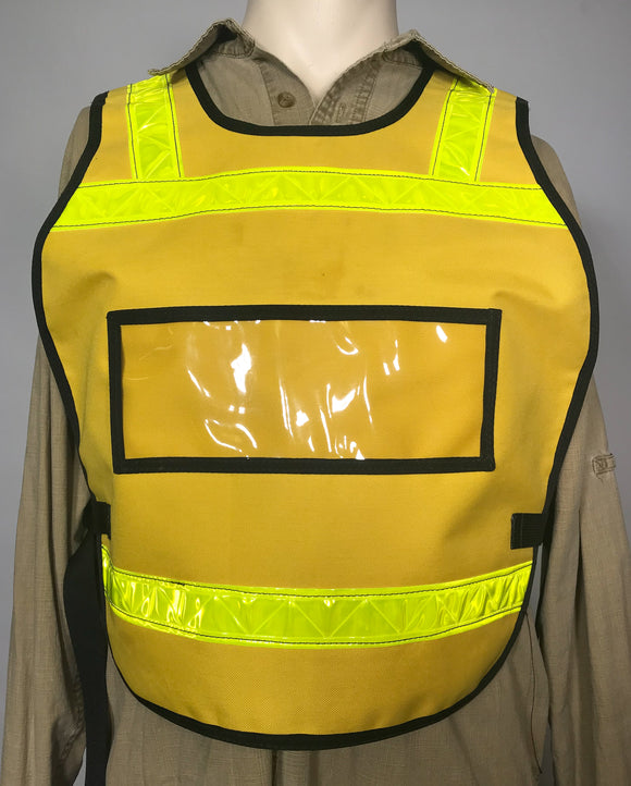 * LAST CHANCE * SAR II Placard Double Yellow Reflective Vest