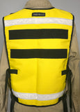 Yellow Reflective Vest with radio pocket