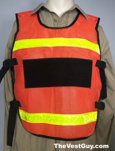 Fluorescent Orange Pullover Reflective Vest by The Vest Guy